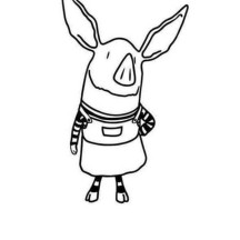 Beautiful Olivia the Pig Coloring Page