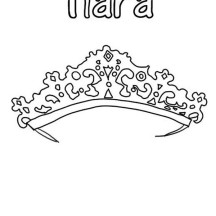 Beautiful Tiara in  Princess Crown Coloring Page
