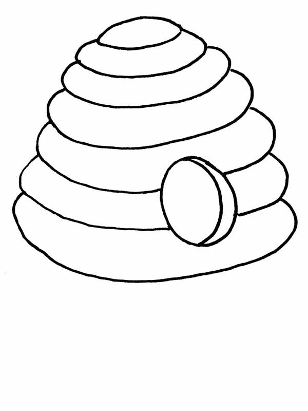 Beehive from the Jungle Coloring Page - NetArt