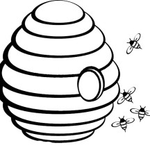 Beehive with Hole in the Middle Coloring Page