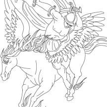 Bellerophon on His Pegasus Coloring Page