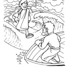 Can Walk on the Water is Miracles of Jesus Coloring Page
