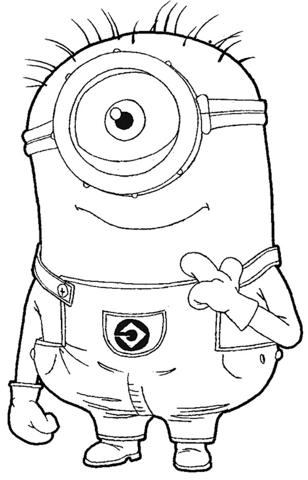 Carl The Minion In Despicable Me Coloring Page Netart