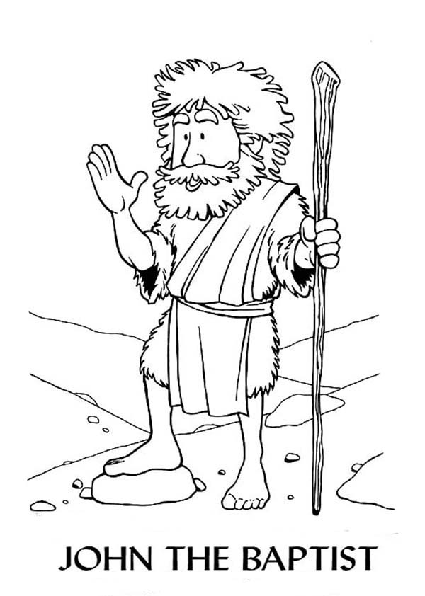 The Heroes of the Bible Coloring Pages: John the Baptist | Bible ... | 842x600