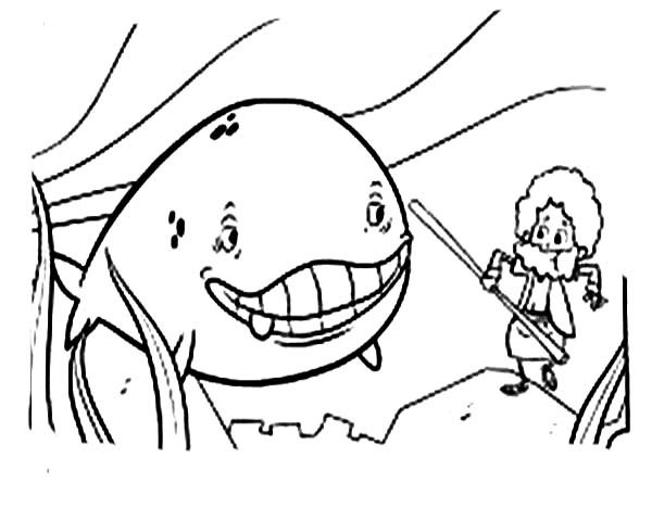Cartoon of Jonah and the Whale