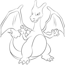 Charizard Get Ready to Fight Coloring Page