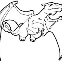 Charizard Spread His Wing Coloring Page