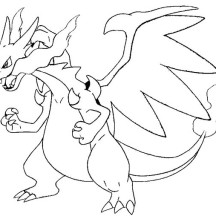 Charizard is Angry Coloring Page