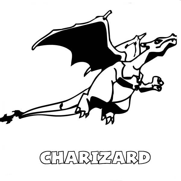 Charizard Is Flying Coloring Page Netart