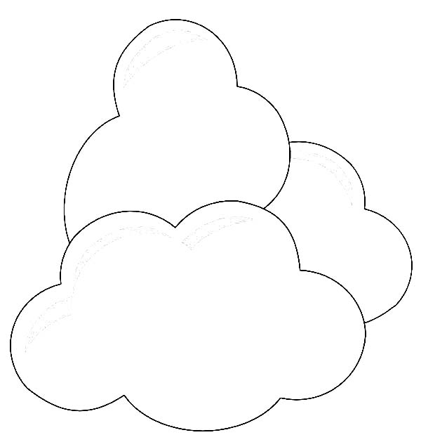 Clouds Coloring Page for Kids