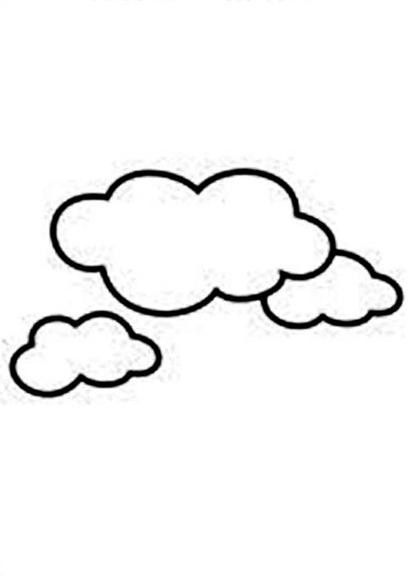 Clouds Image Coloring Page