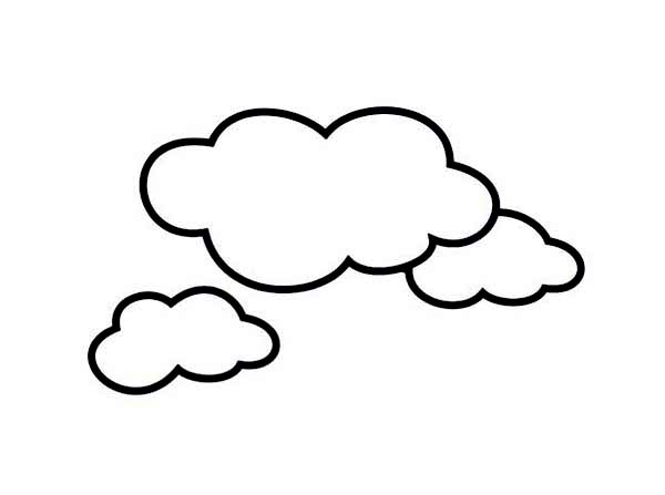 Clouds Picture Coloring Page