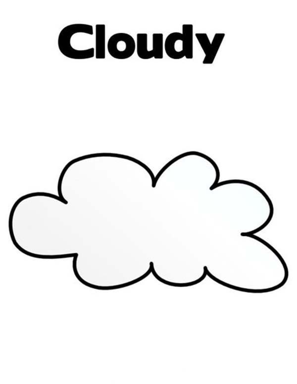 Cloudy Clouds Coloring Page