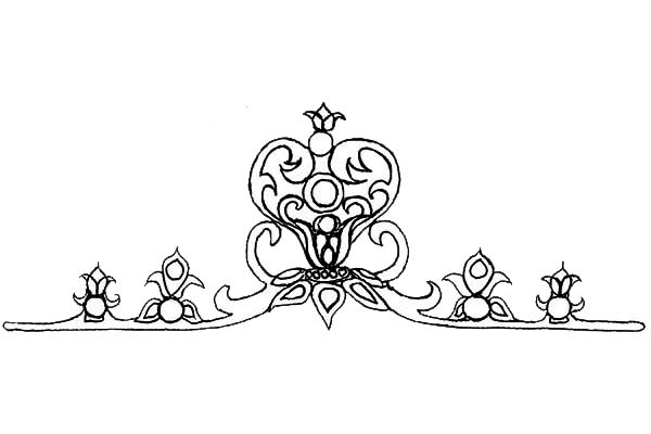 Collection of Princess Crown Coloring Page