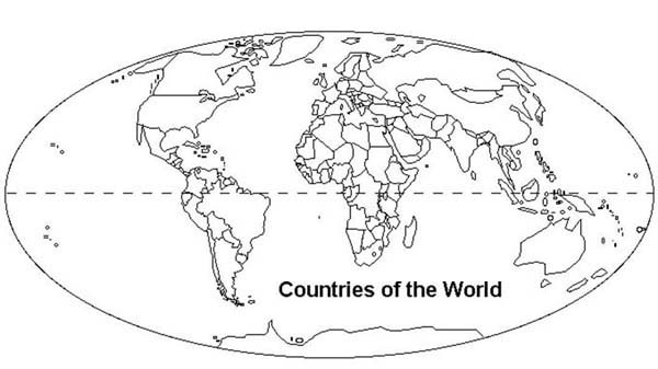 - Countries Of The World In World Map Coloring Page - NetArt