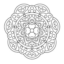 Courtyard Floor Design Rangoli Coloring Page