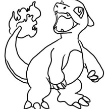 Cute Little Charizard Coloring Page