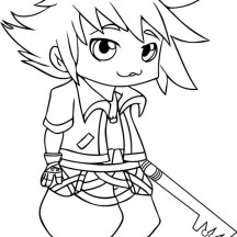 Cute Little Sora Picture Coloring Page