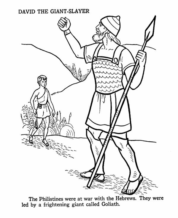 David the Giant Slayer in the Story