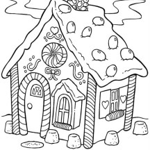 Delicious Gingerbread House Coloring Page