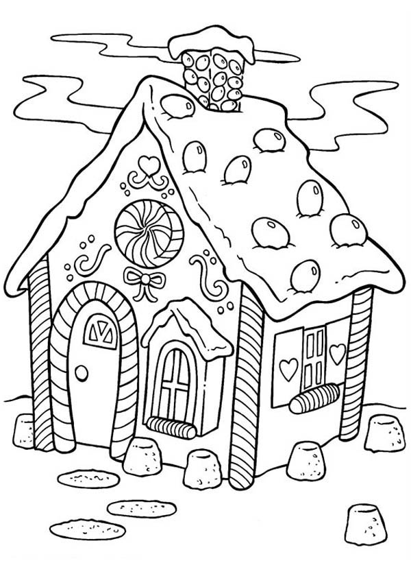 - Delicious Gingerbread House Coloring Page - NetArt
