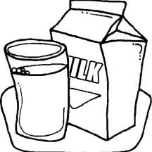 Delicious Milk in Milk Carton Coloring Page