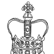 Design of King Crown in Princess Crown Coloring Page