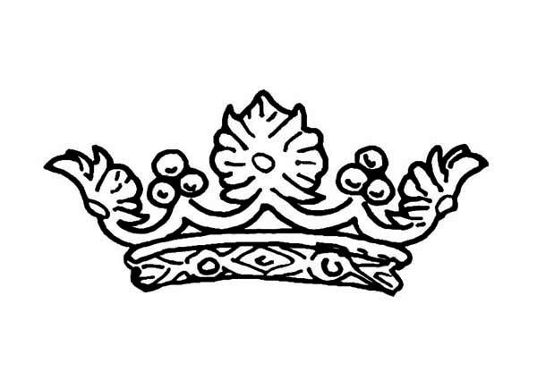 Design of Princess Crown Coloring Page