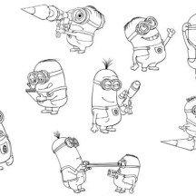 Despicable Me Minion Activities Coloring Page