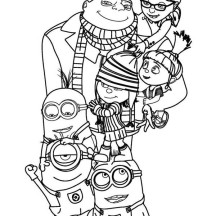 Despicable Me Poster Coloring Page