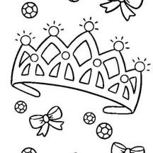 Diamond on Princess Crown Coloring Page