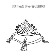 Diamons for Princess Crown Coloring Page