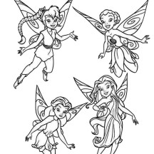 Disney Fairies Pixie Coloring Page