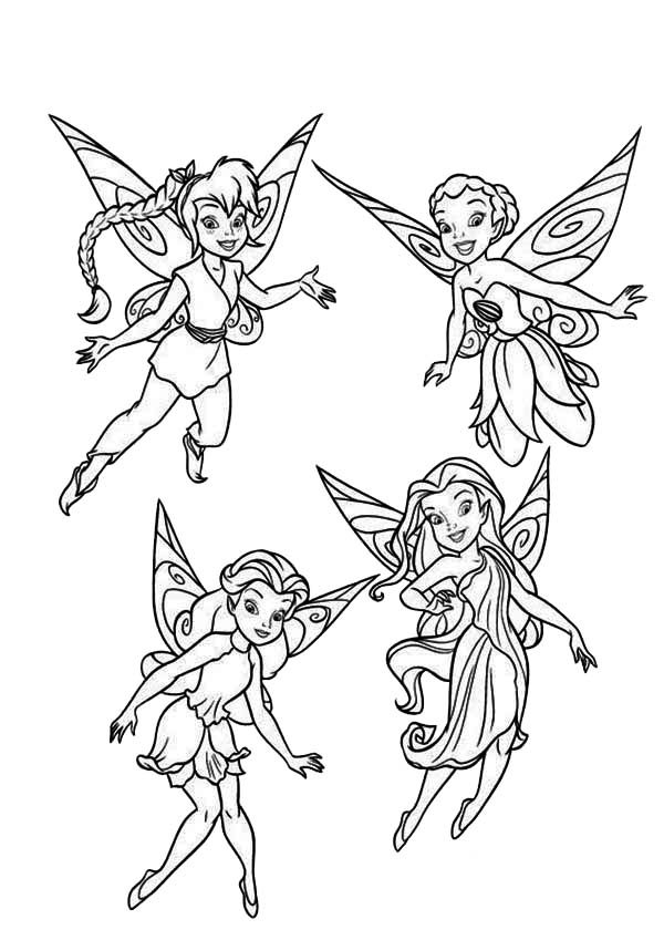 Disney Fairies Pixie Coloring Page - NetArt
