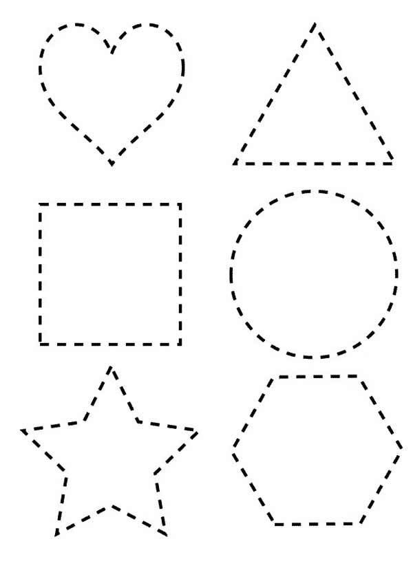 Dotted Line Shapes Coloring Page