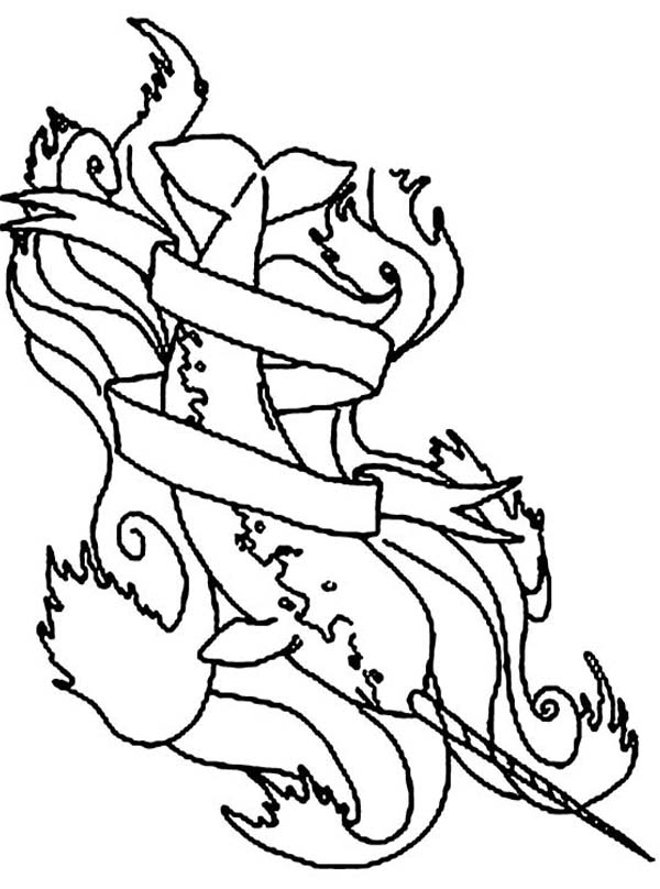 Drawing Narwhal Coloring Page