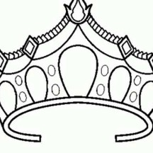 Drawing of Princess Crown Coloring Page
