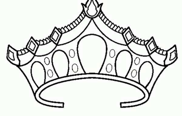 Drawing of Princess Crown Coloring Page