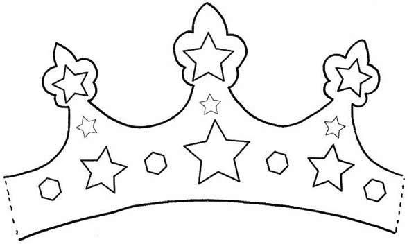 Fabulous Royal Princess Crown Coloring Page