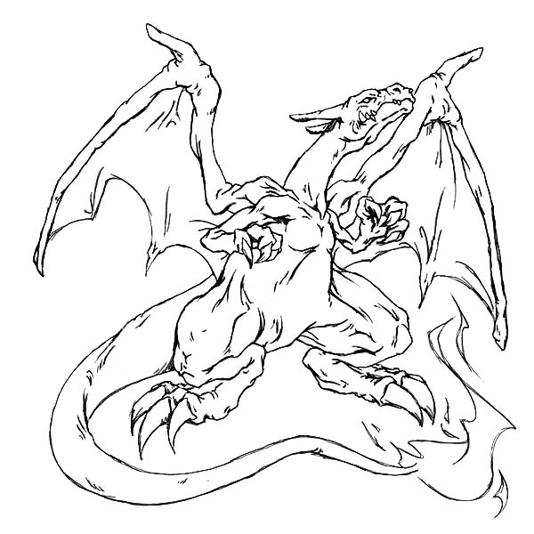 Fire Charizard Pokemon Coloring Page