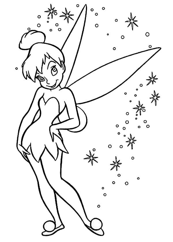 Tinkerbell Coloring Pages Cartoon | Cartoon Coloring pages of ... | 840x600