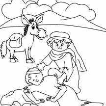 Good Samaritan Drawing Coloring Page