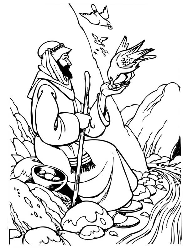 Good Samaritan Feeding Hungry Birds Coloring Page