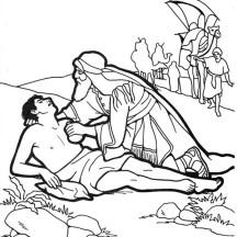 Good Samaritan Help Half Dead Traveller Coloring Page