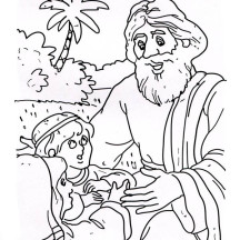 Good Samaritan Help a Little  Kid Coloring Page