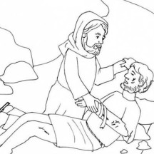 Good Samaritan Helping Coloring Page