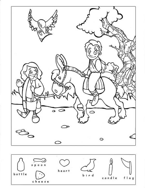 Good Samaritan Hidden Puzzle Coloring Page NetArt