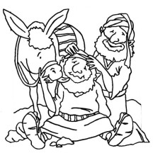 Good Samaritan Massage Traveller Head Coloring Page