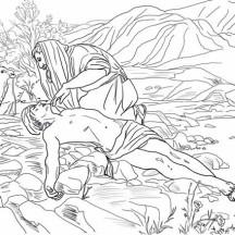 Good Samaritan Rescue a Half Dead Traveller Coloring Page