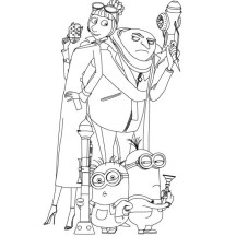 gru minions coloring pages | Despicable Me | NetArt